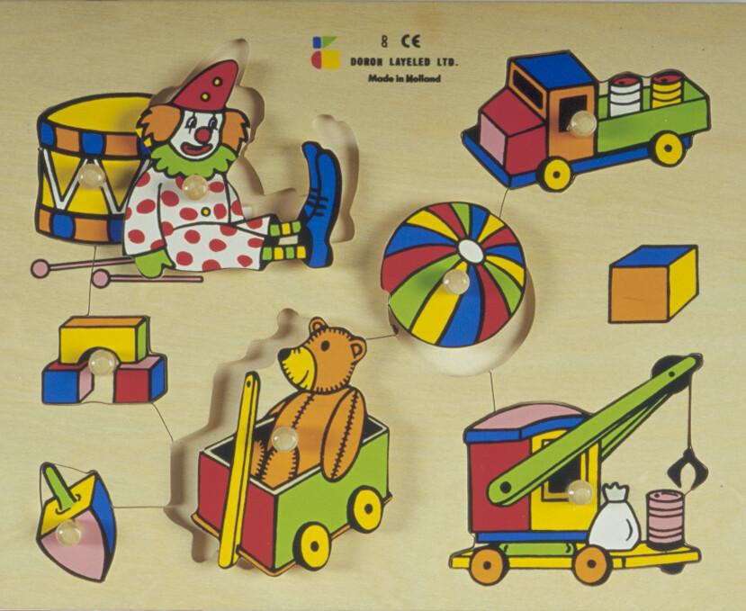 פזל כפתור עץ צעצועים