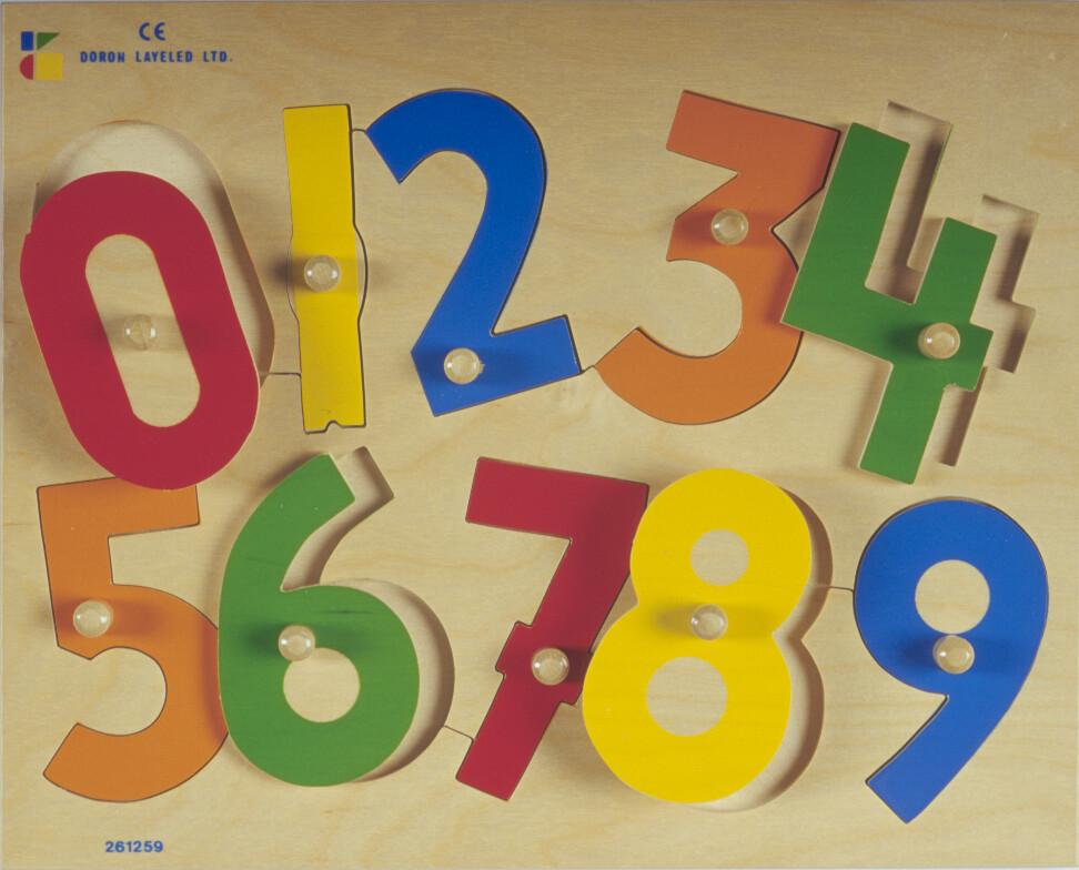 פזל כפתור עץ מספרים