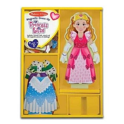 משחק הלבשה מגנטי מעץ הנסיכה אליס