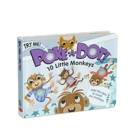 משחק התפתחות אינטרקטיבי 10 קופים קטנים מבית מליסה ודאג