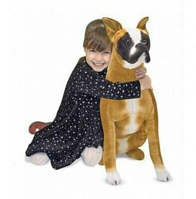 בובת כלב בוקסר גדולה מבית מליסה ודאג