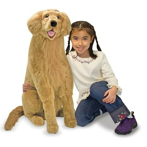 בובת כלב גולדן רטריוור גדולה מבית מליסה ודאג