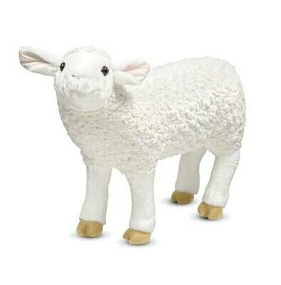 בובת כבשה רכה גדולה מבית מליסה ודאג