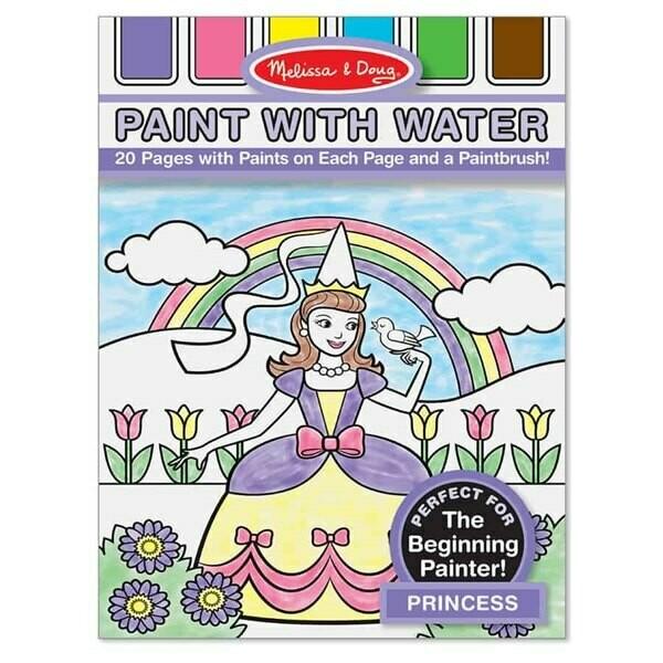 חוברת צביעה עם מים נסיכות