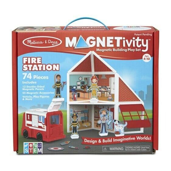 תחנת כיבוי אש - משחק בניה והרכבה מגנטי