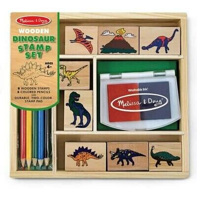 ערכת חותמות עץ דינוזאורים