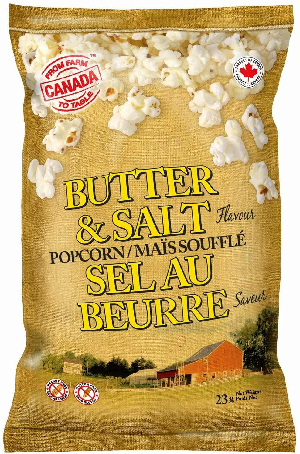 FROM FARM TO TABLE Butter/Salt Popcorn 105g
