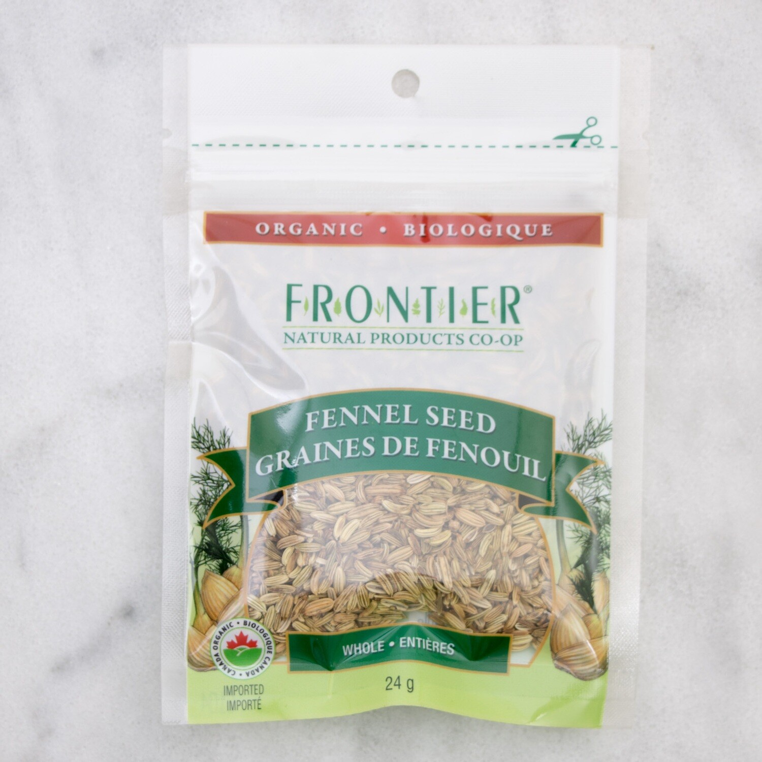 FRONTIER Whole Fennel Seeds 24g