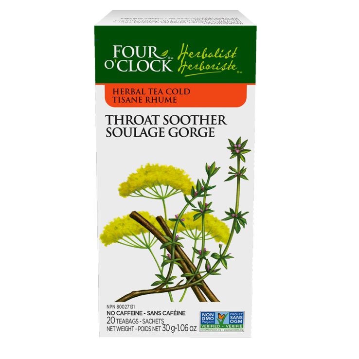 4 O'CLOCK TEA Throat Soother 20 bags