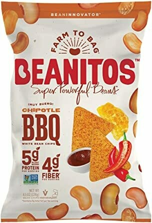 BEANITOS Chipotle BBQ Bean Chips 128g