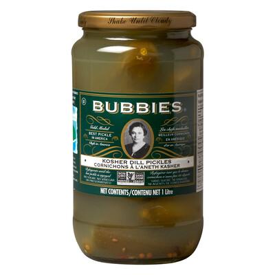 BUBBIES Kosher Dill Pickles 1L