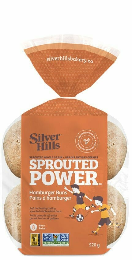 SILVER HILLS Buns - Hamburger Sprouted 8 pk