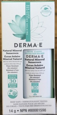 DERMA-E Natural Sunscreen 14g