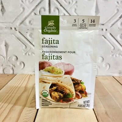 SIMPLY ORGANIC Fajita Seasoning 28g