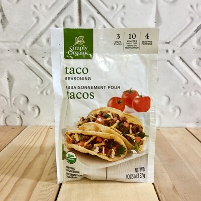 SIMPLY ORGANIC Taco Seasoning 32g