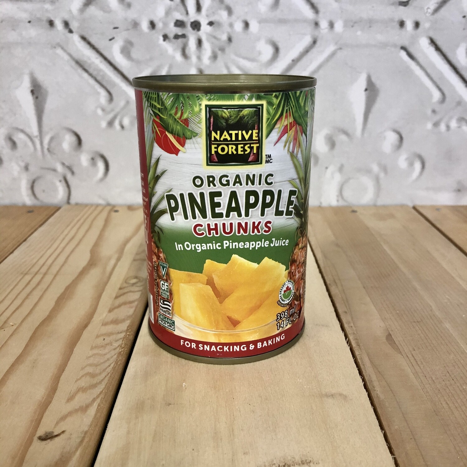 NATIVE FOREST Pineapple Chunks 398mL ORG