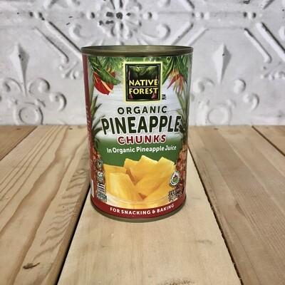 NATIVE FOREST Pineapple Chunks 398mL ORG