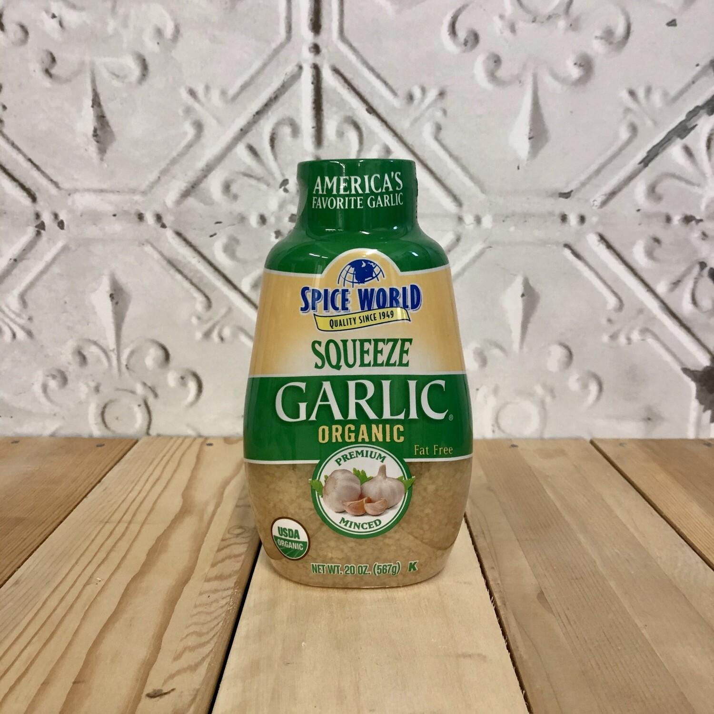 SPICE WORLD Garlic - Squeeze ORG 567g