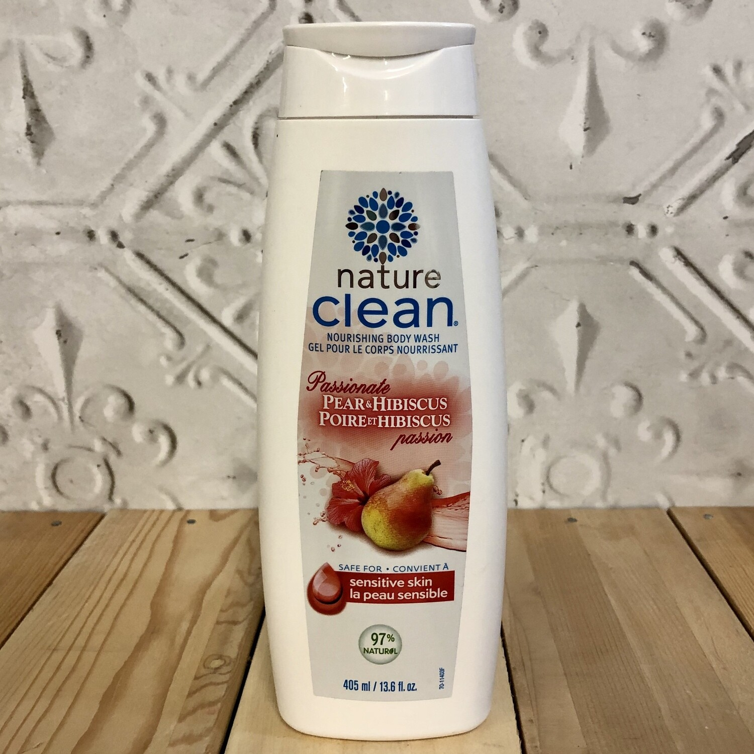 NATURE CLEAN Pear & Hibiscus Body Wash 405ml