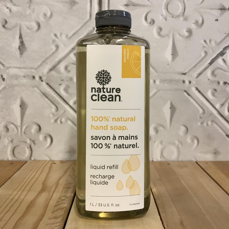 NATURE CLEAN Hand Soap Refill 1L Citrus
