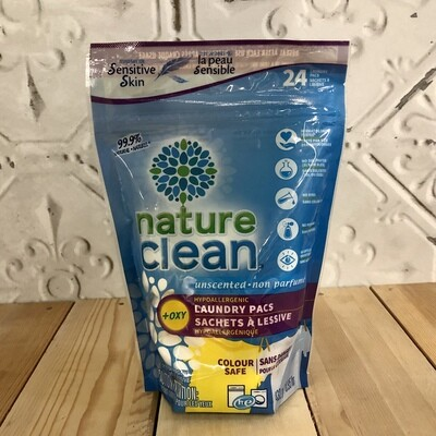 NATURE CLEAN Laundry Packs 24ct
