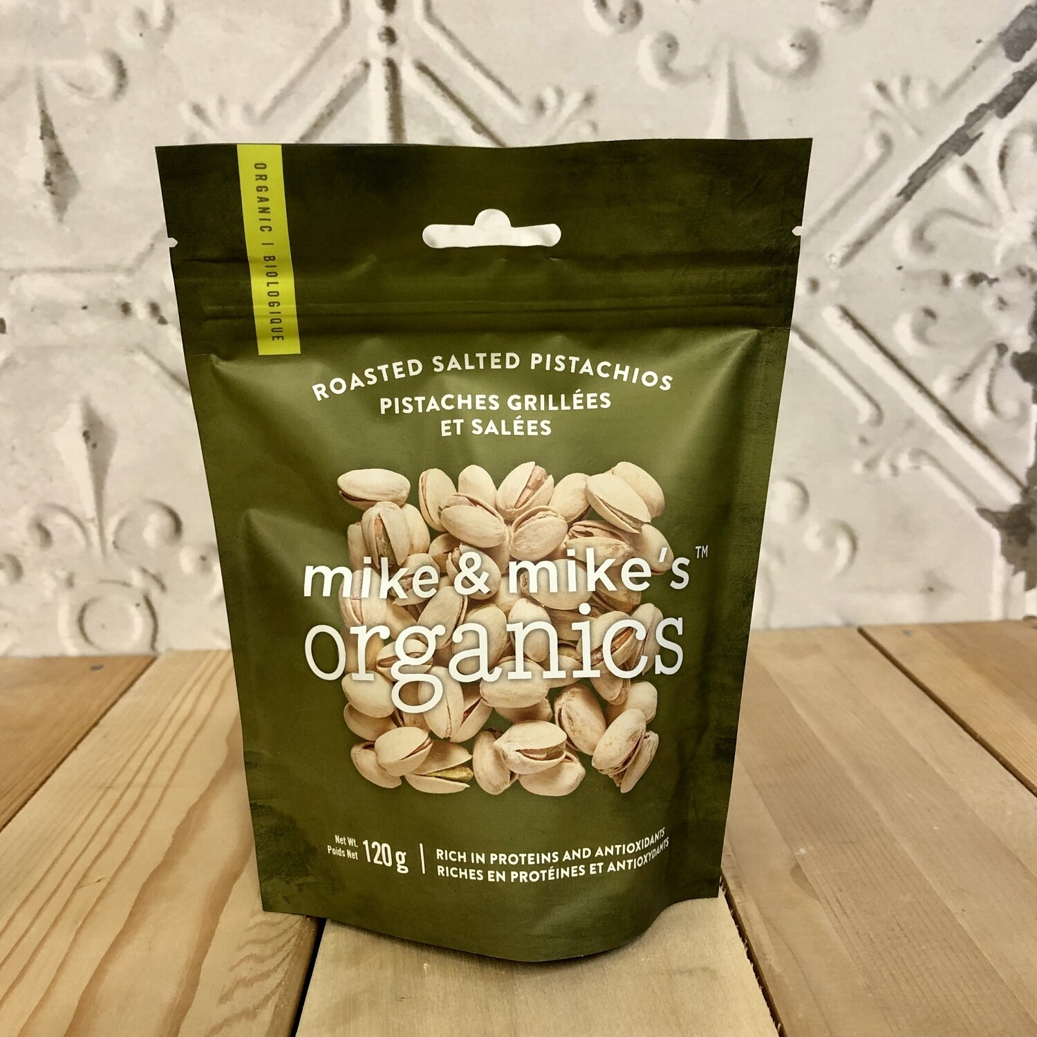 MIKE & MIKES Roasted Pistachios 120g ORG