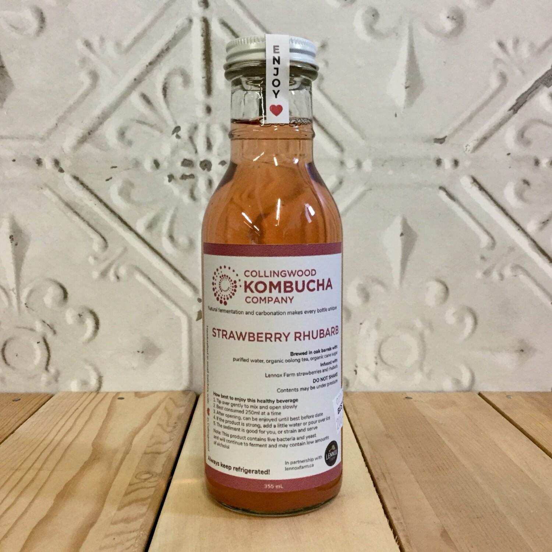 CWOOD KOMBUCHA Strawberry Rhubarb 355ml