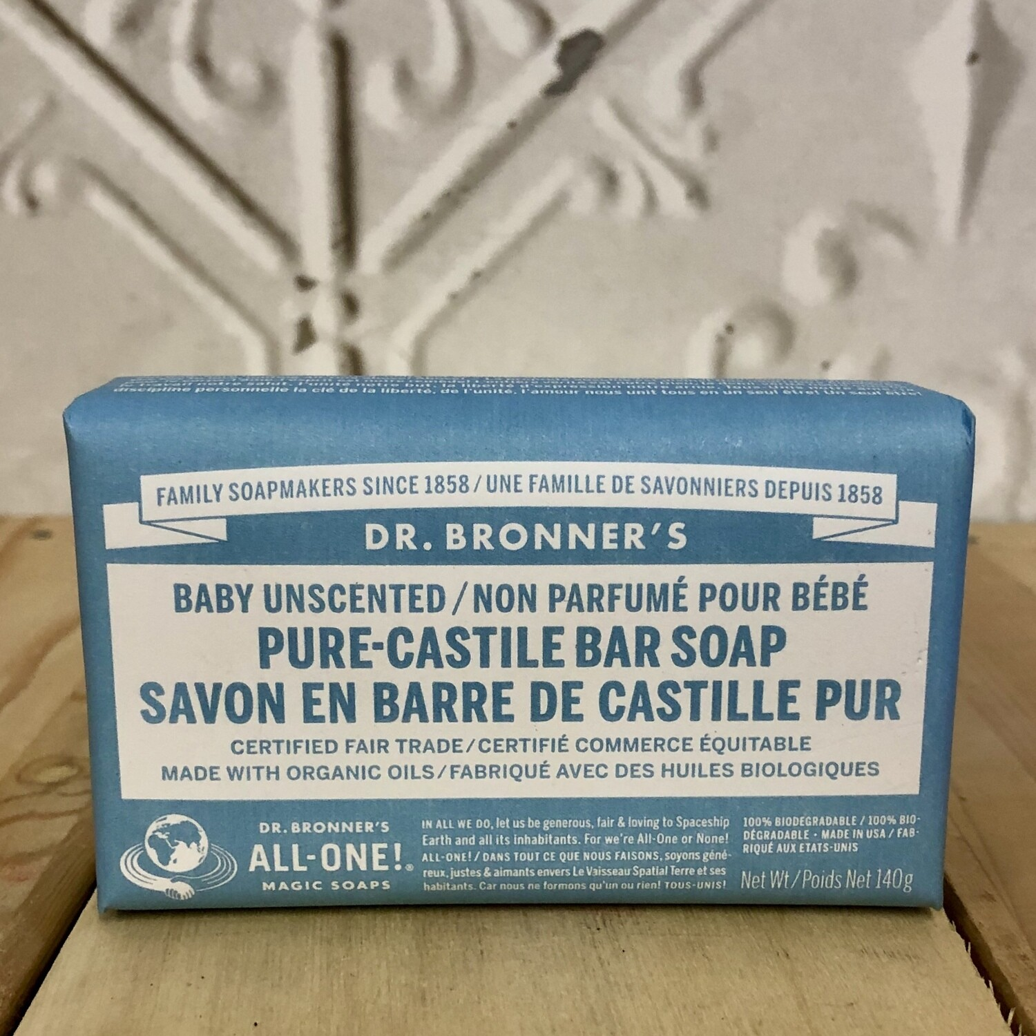 DR BRONNERS Bar Unscented