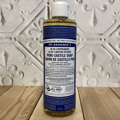 DR BRONNERS Castille 18-in-1 Peppermint 473ml