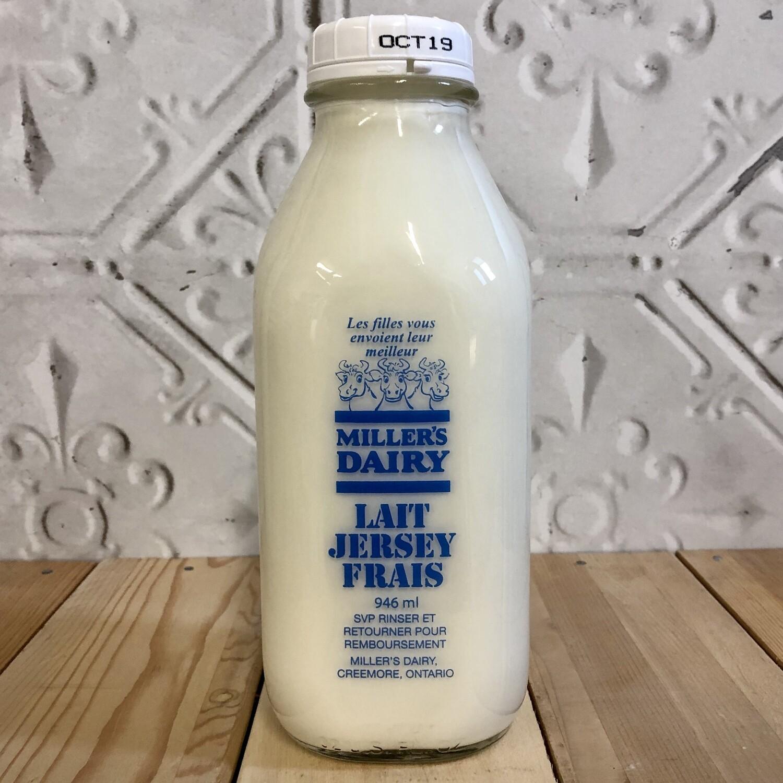 MILLERS DAIRY Whole Milk 946ml