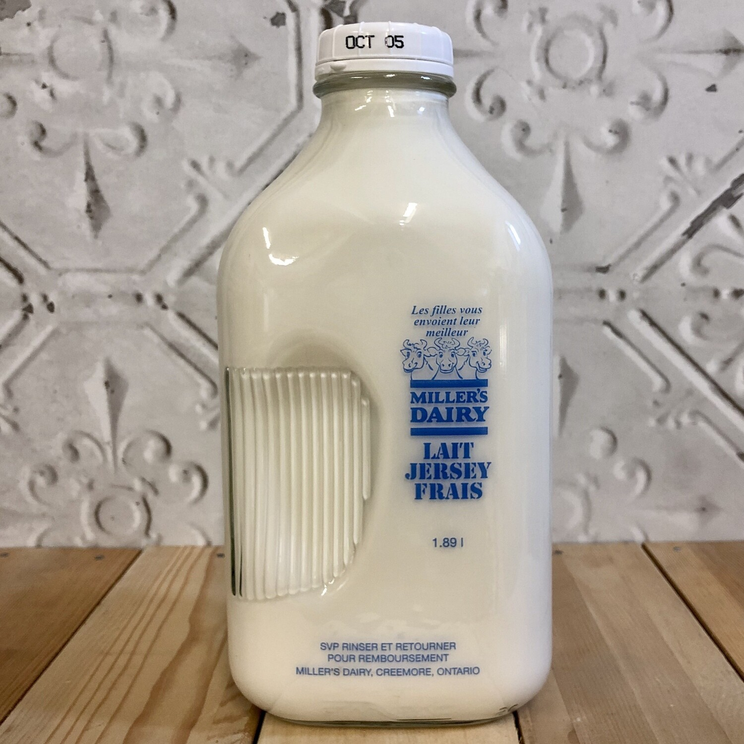 MILLERS DAIRY Whole Milk 1.89L