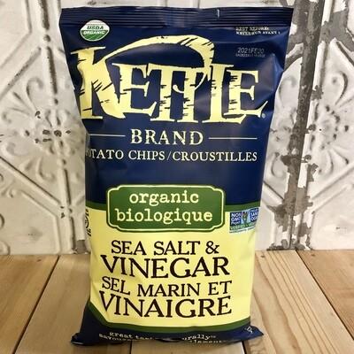 KETTLE BRAND Chips Sea Salt & Vinegar Org 142g