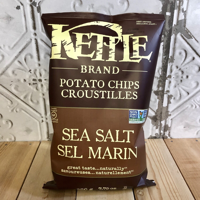 KETTLE BRAND Chips Sea Salt 220g
