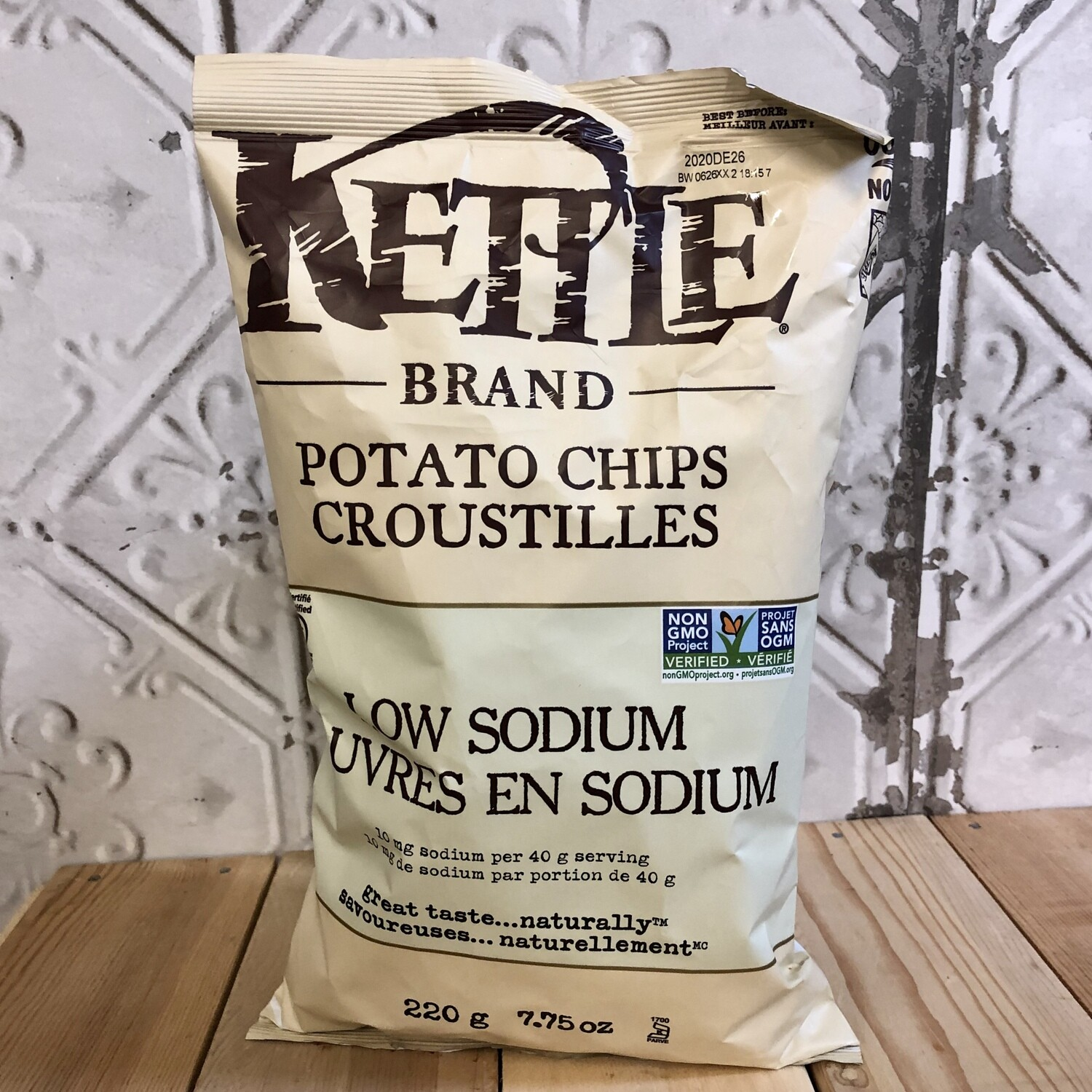 KETTLE BRAND Chips Low Sodium 220g