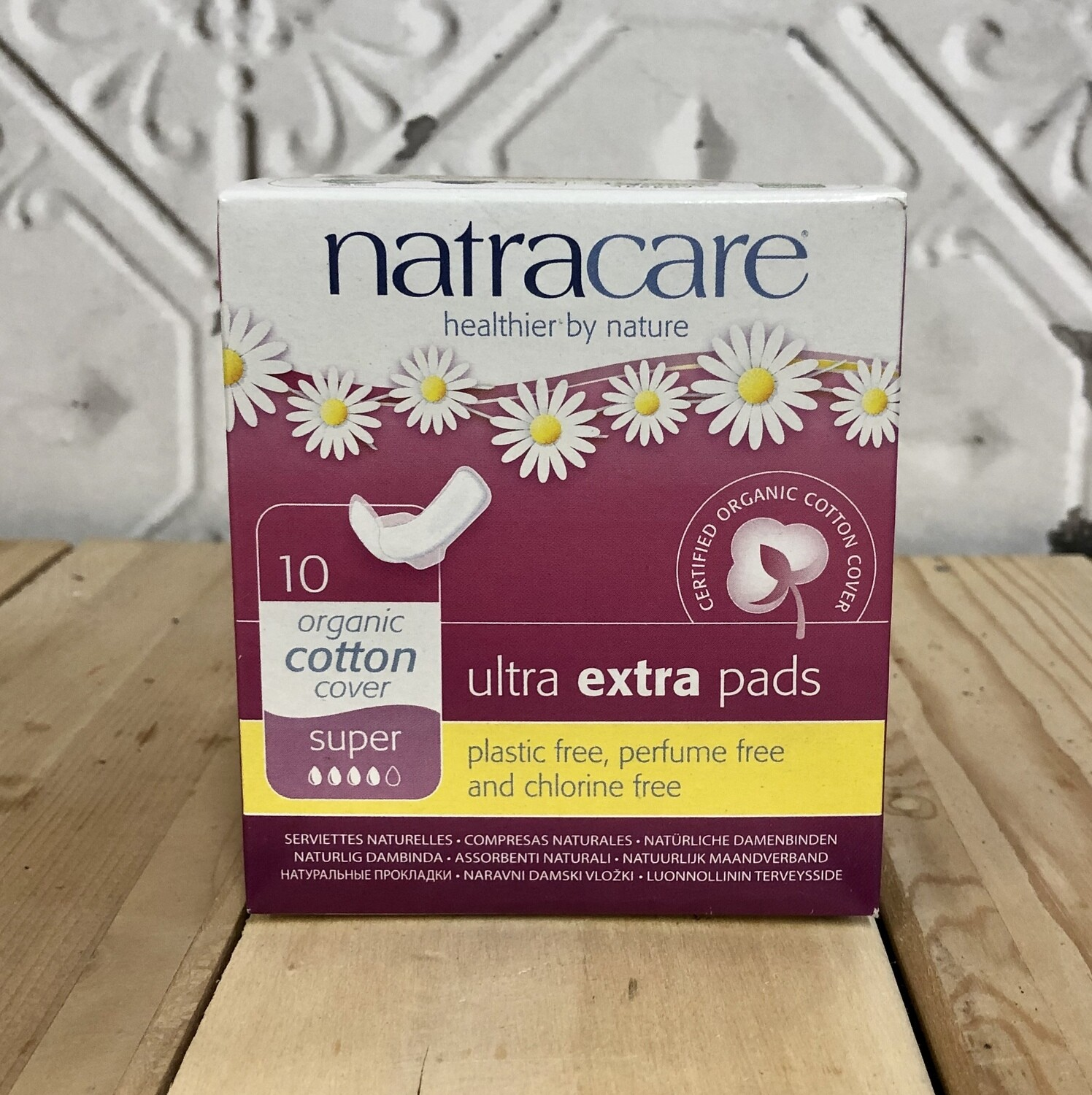 NATRACARE Extra Pads 10ct Super