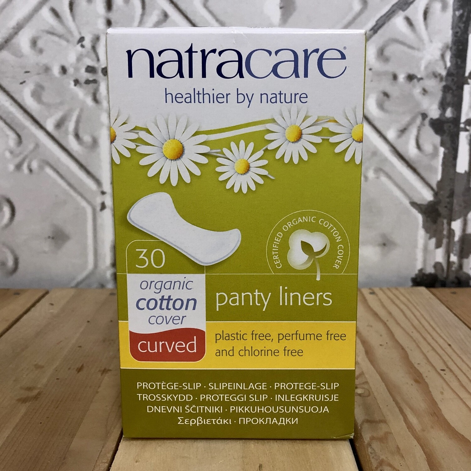 NATRACARE Panty Liners 30ct Curved