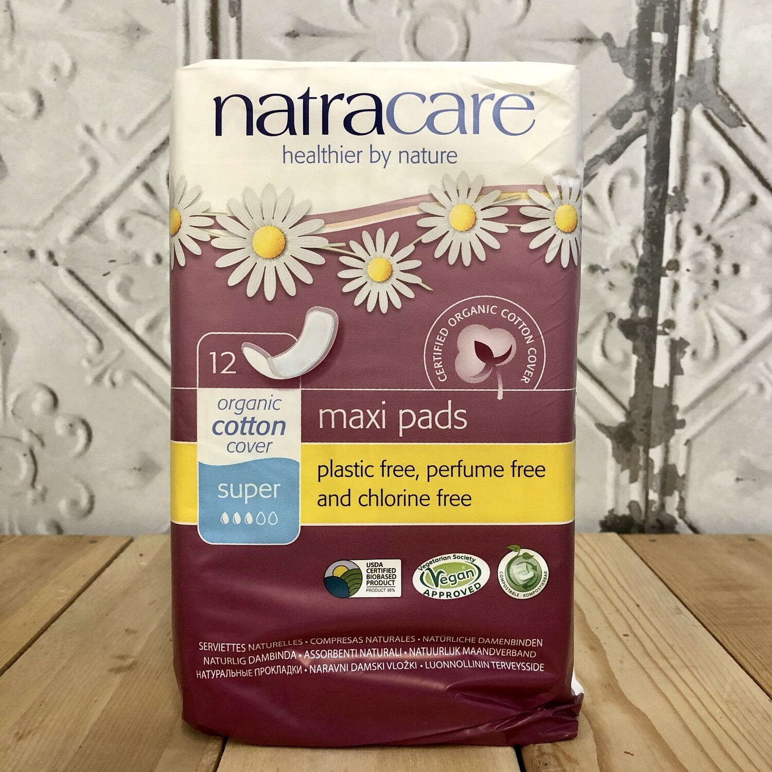 NATRACARE Maxi Pads 12ct
