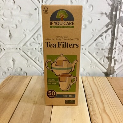 IF YOU CARE Tall Tea Filters 50pc