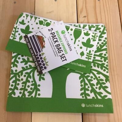 LUNCHSKINS Reusable Bag Set - Green
