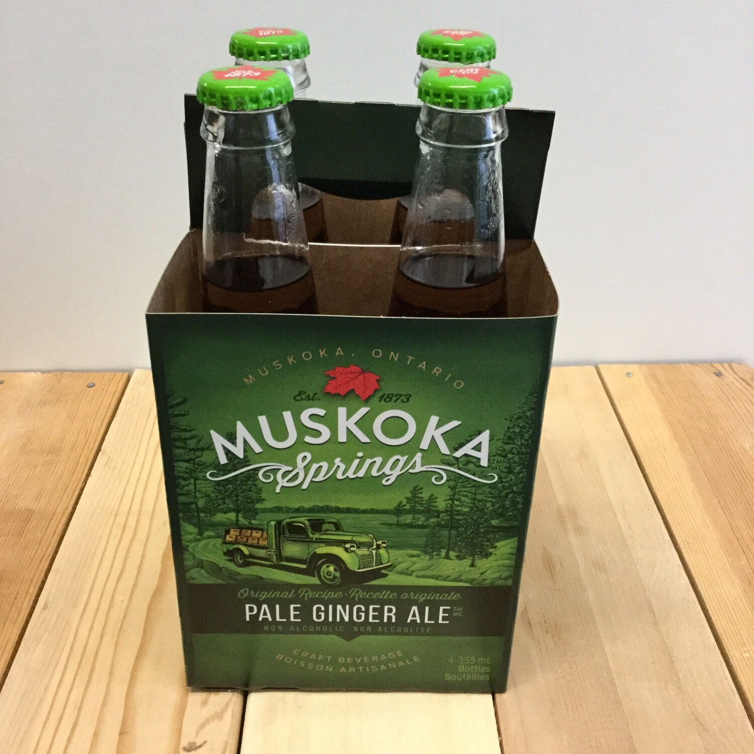 MUSKOKA SPRINGS Craft Ginger Ale 4 pack