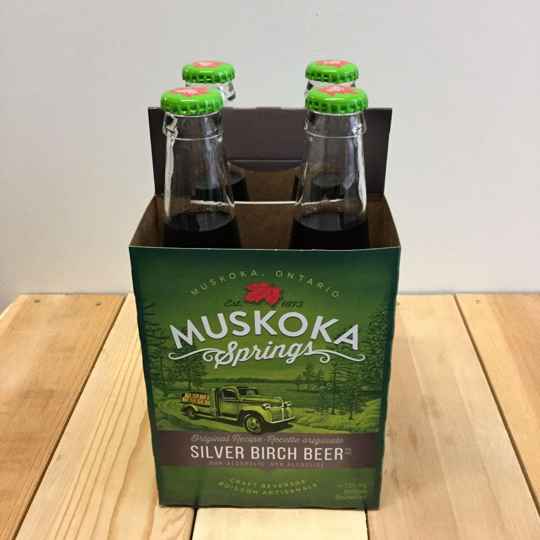 MUSKOKA SPRINGS Silver Birch Beer 4 pack