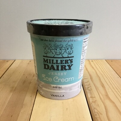 MILLERS Ice Cream Vanilla 946ml