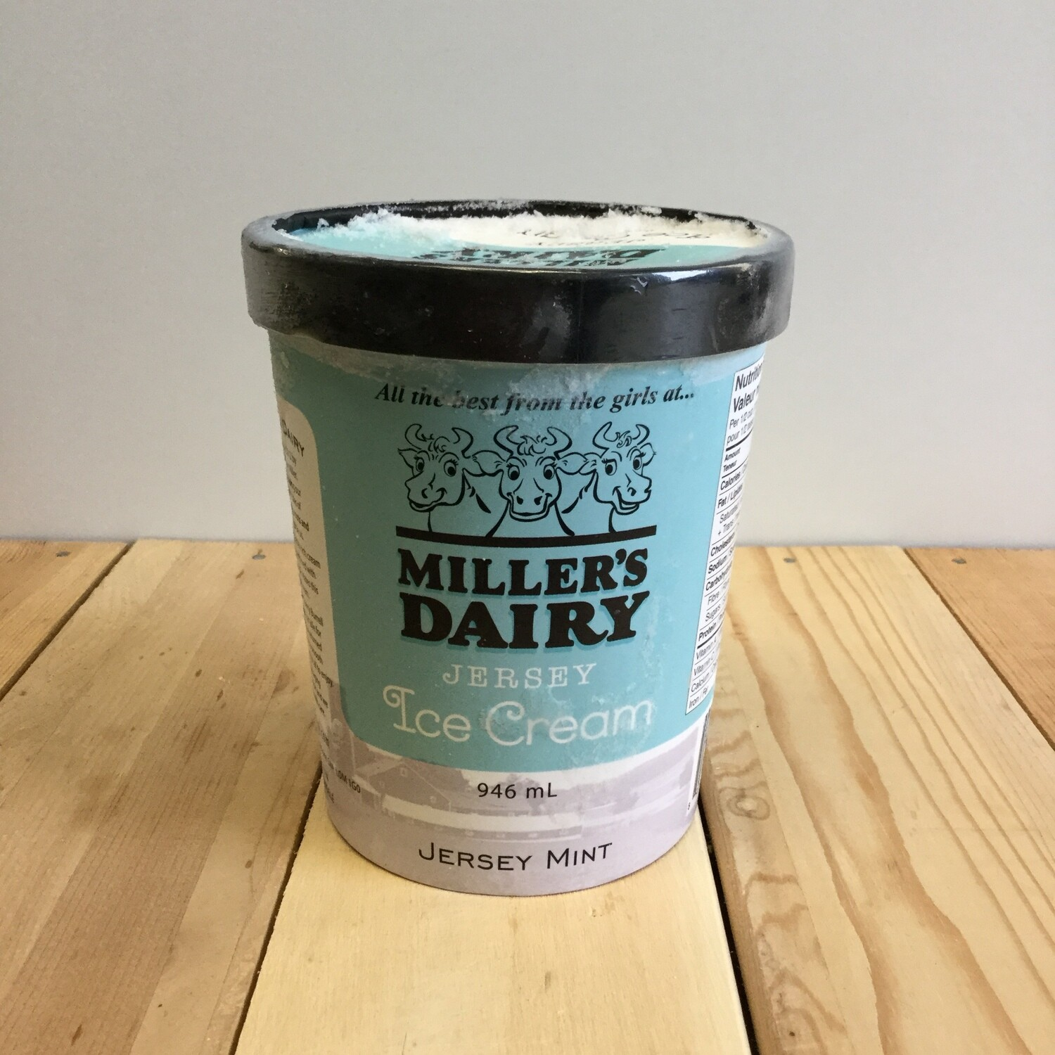 MILLERS Ice Cream Jersey  Mint 946ml
