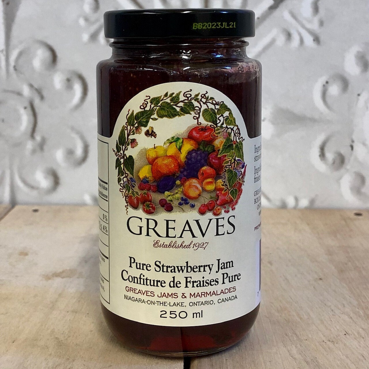 GREAVES Pure Strawberry Jam 250ml