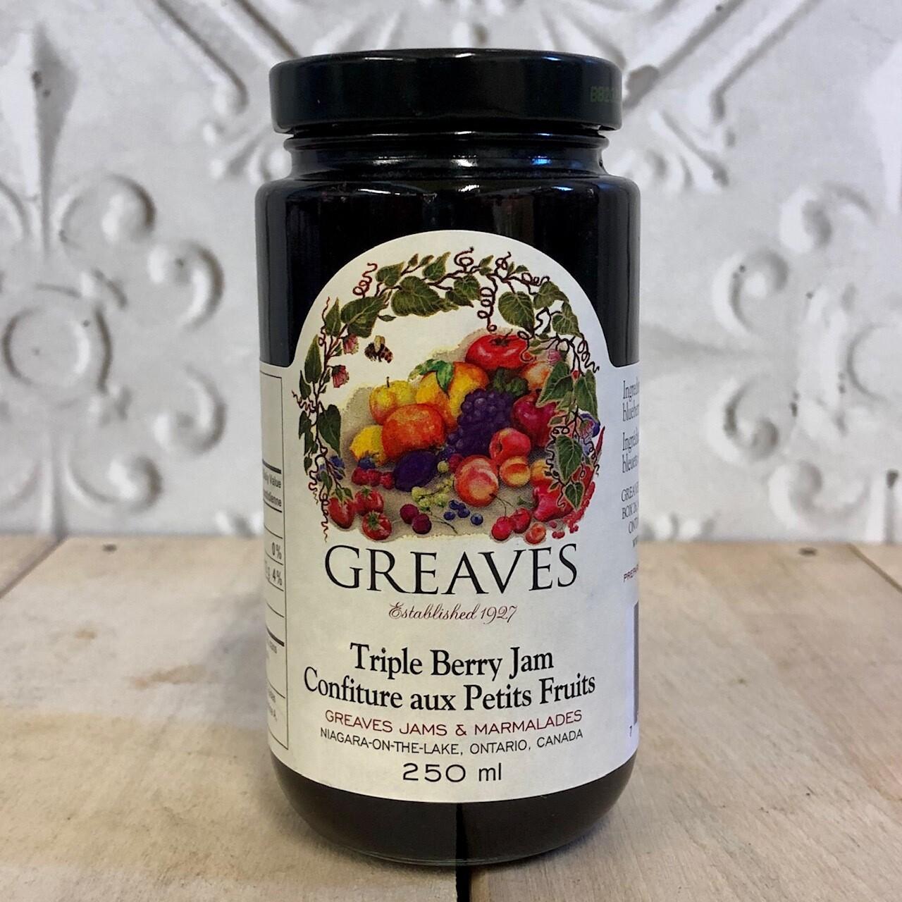 GREAVES Triple Berry Jam 250ml