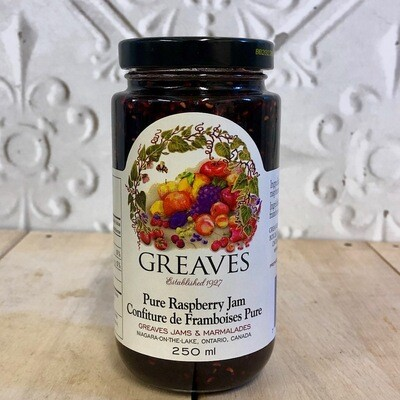 GREAVES Pure Raspberry Jam 250ml