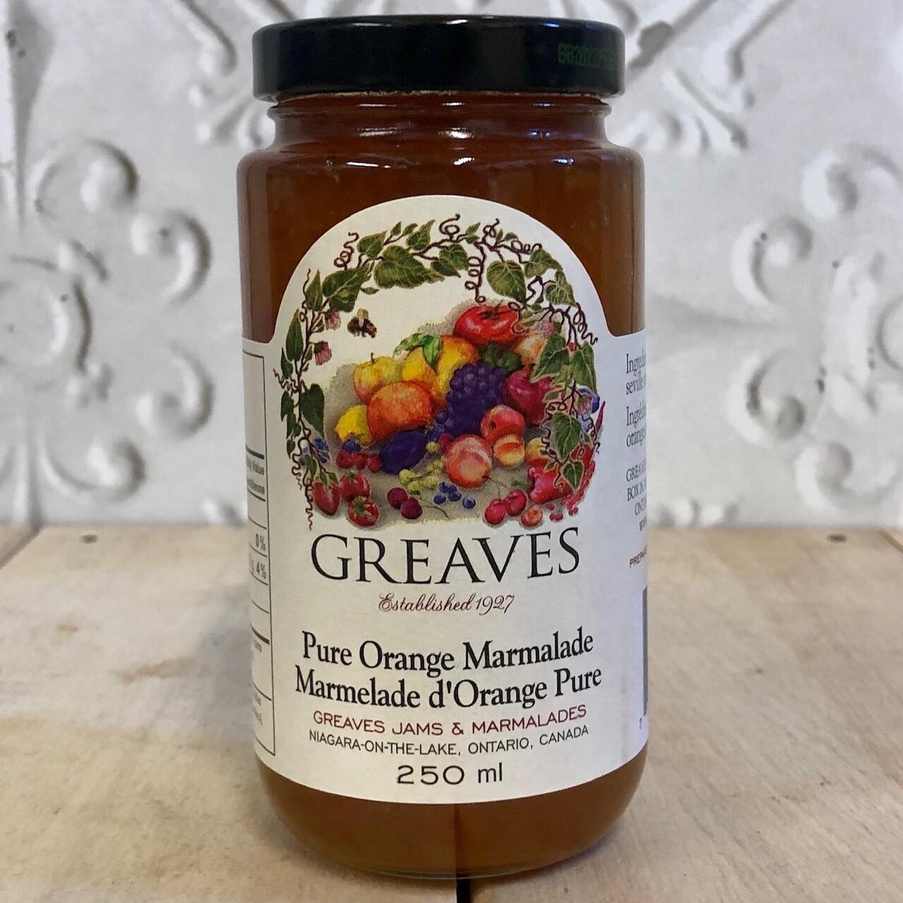 GREAVES Pure Orange Marmalade 250ml