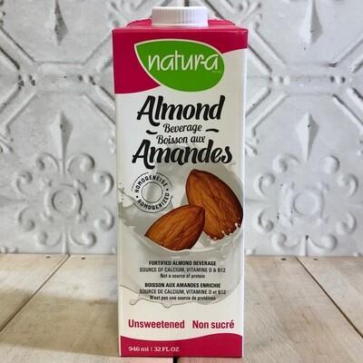 NATURA Almond Beverage Unsweetened 946ml