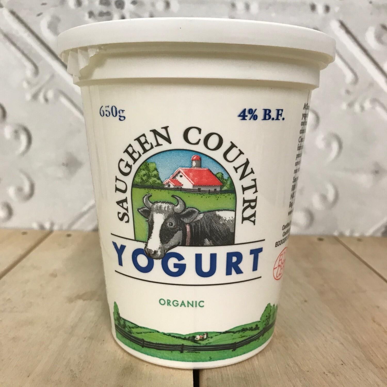 SAUGEEN COUNTRY Yogurt - Plain Organic 650g