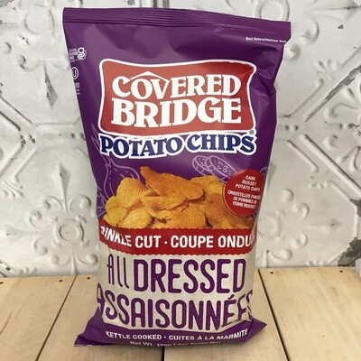 COVERED BRIDGE Chips All Dressed Crinkle Cut 170g